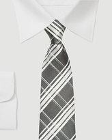 Le Château Check Print Silk Tie
