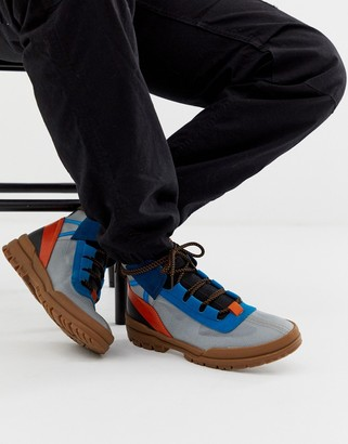Asos Design DESIGN hiker trainers with contrast panel detailing-Multi