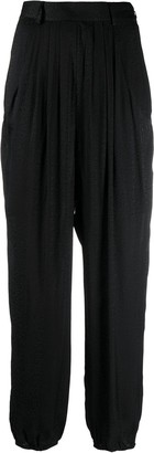 BA&SH Jacko leopard-print tapered trousers