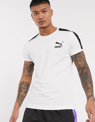 Puma t7 slim t-shirt white