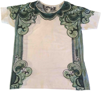 Carven Green Cotton Tops