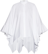 Valentino Fluted-cuffs cotton-poplin blouse