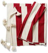 Abanja Tanger Striped Cotton Throw - Red