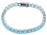 "Journee Collection 20 1/5 CT. T.W. Round-cut Cubic Zirconia Basket Set Tennis Bracelet in Sterling Silver - Blue (8"")"