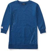Ralph Lauren 2-6X Paint-Splatter Fleece Dress