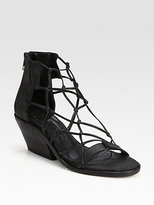 Ld Tuttle Freeze Knotted Leather Sandals