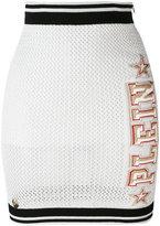Philipp Plein mesh mini skirt - women - Cotton/Acrylic/Polyester/Nylon - M