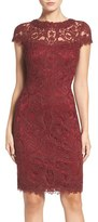 Tadashi Shoji Women's Illusion Yoke Lace Sheath Dress
