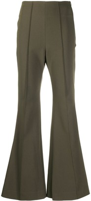 Low Classic High-Rise Flared Trousers