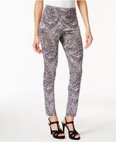 Thalia Sodi Pebble-Print Skinny Ankle Pants, Created for Macy's