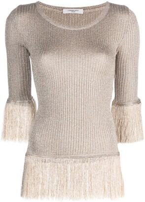 Charlott Fringed Crew-Neck Top