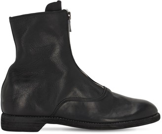 Guidi 1896 25mm Front Zip Leather Biker Boots