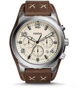 Fossil Oakman Chronograph Dark Brown Leather Watch