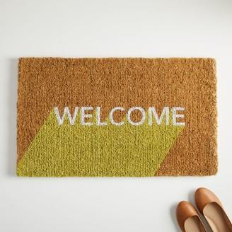 west elm Welcome Block Doormat - Sun Yellow