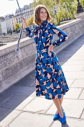 Boden Womens Isodora Midi Shirt Dress - Blue