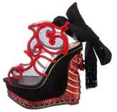 Charlotte Olympia The Great Wedge Of China Embellished Sandals