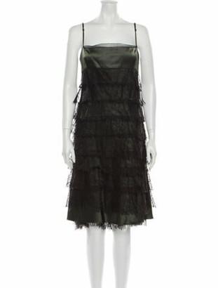 Ralph Rucci Silk Mini Dress Green