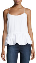 F.T.B by Fade to Blue Woven Bubble Tank, White