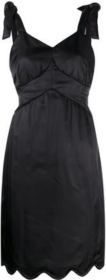 MM6 MAISON MARGIELA Knotted Straps Scalloped Dress