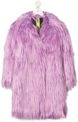 Too Cool For Fur Kids Oversized Faux Fur Coat