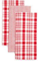 Sur La Table Stripe & Plaid Kitchen Towels, Sets of Three