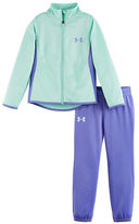 Under Armour Girls 2-6x Two-Piece Super Fan Jacket and Track Pants Set