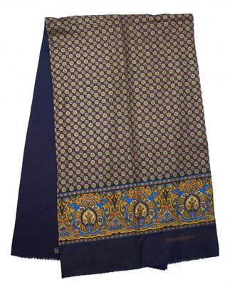 Saint Laurent Navy Wool Scarves & pocket squares