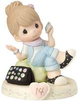 """Precious Moments 162013B Birthday Gifts, """"Growing In Grace, Age 14"""", Bisque Porcelain Figurine, Girl"""