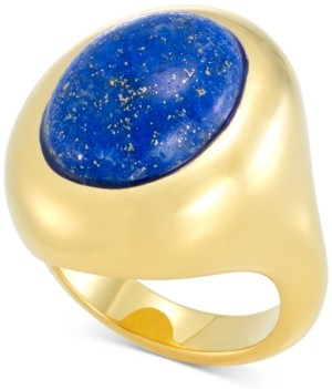 Signature Gold Lapis Lazuli Statement Ring in 14k Gold Over Resin, Created for Macy's