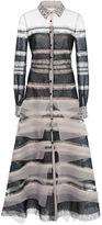 Carolina Herrera Lace and Organza Shirt Dress
