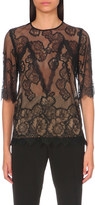 Sandro Idol lace and crepe top