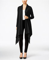 Cable & Gauge Multi-Wrap Open-Front Cardigan