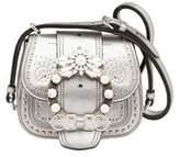 Miu Miu Women's Silver Leather Shoulder Bag.