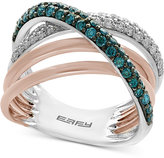 Effy Diamond (3/4 ct. t.w.) Crossover Ring in 14k White and Rose Gold