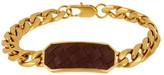 Cole Haan Woven Leather Station Chain Bracelet
