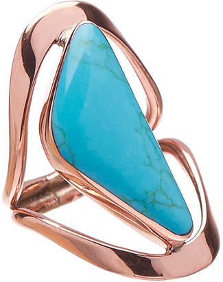 Coppertone Moda Designs Women's Rings TQ/COPPER - Reconstituted Turquoise & Triangle Statement Ring