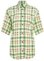 Topshop Silk Bowling Shirt