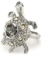 Oscar de la Renta Swarovski Crystal Embellished Turtle Ring