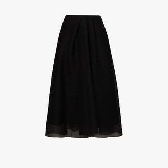 Roland Mouret Mulligan layered midi skirt