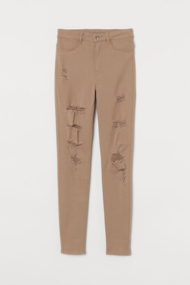 H&M Super Skinny High Jeans - Beige