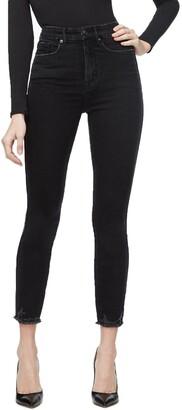 Good American Good Curve High Waist Crop Skinny Jeans
