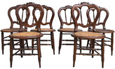 One Kings Lane Vintage Victorian Caned Chairs - Set of 6 - Tobe Reed - brown