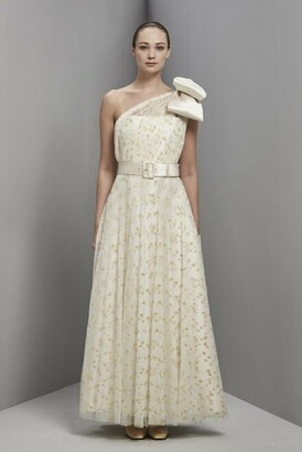 Khoon Hooi Austin Asymmetric One Shoulder Taffeta Gown