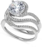 Arabella Swarovski Zirconia Bridal Set ring in Sterling Silver