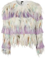 Topshop Multi Feather Jacket