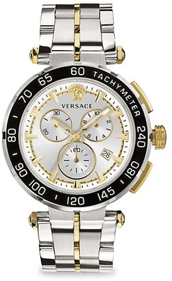 Versace Greca Stainless Steel Bracelet Chronograph Watch