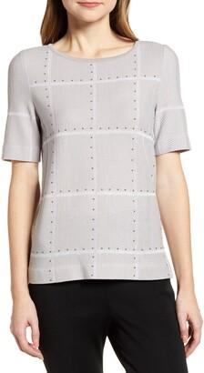 Ming Wang Studded Knit Tunic