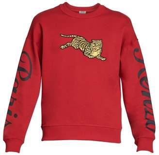 Kenzo Jumping Tiger Logo-Sleeve Sweatshirt
