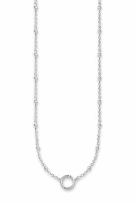 Thomas Sabo Women's 925 Sterling Silver Charm Club Necklace of Length 45 cm X0233-001-12-L45v