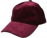 Steve Madden Velvet Embroidered Baseball Cap Caps